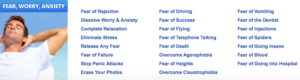 Fear Worry Anxiety Audio Sessions